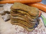 EcoDog treats with carrots,flax,ginger & turmeric