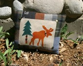 Upcylced Moose Pillow by NorthernLodge