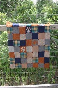 Wolf Walk Wool Quilt