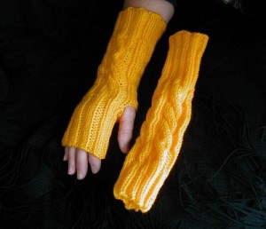 Gold Fingerless Gloves, only $14 & Free Shipping!!