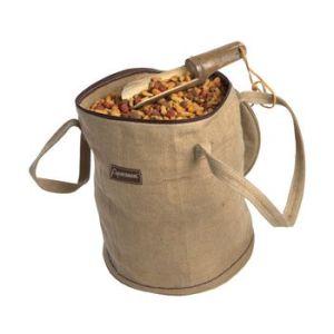 Bamboo food sack with zip lid